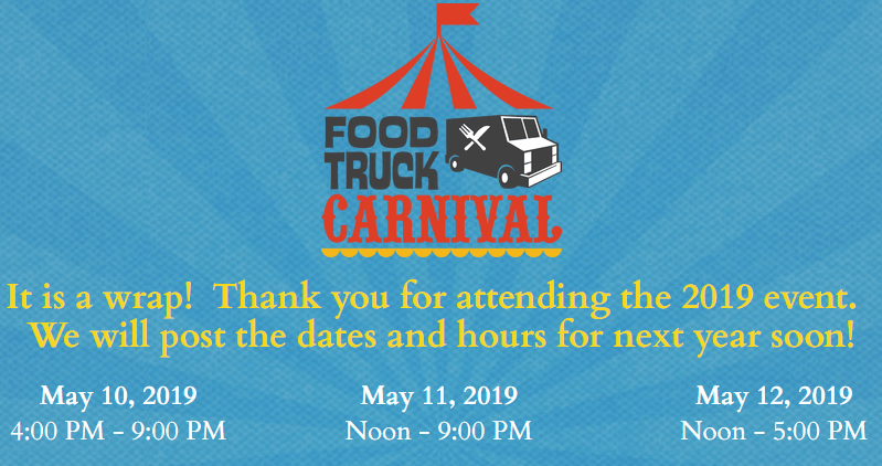 Food Truck Carnival event time and date 2019
