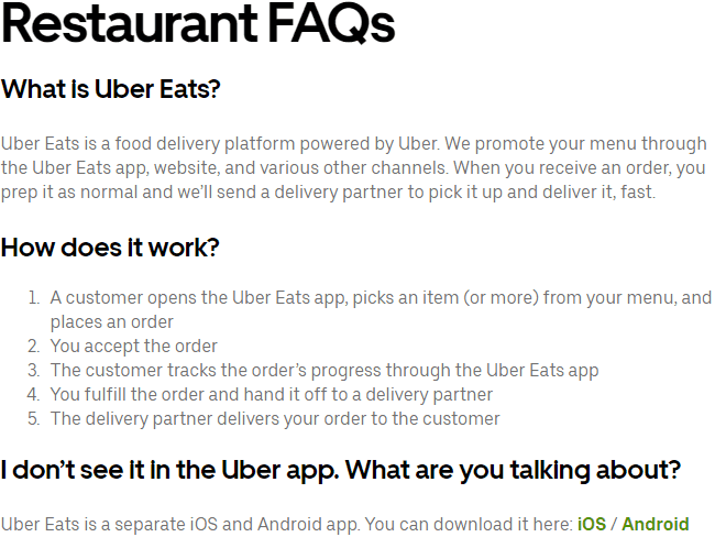 what is uber eats how does it work
