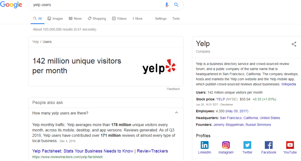 yelp users search